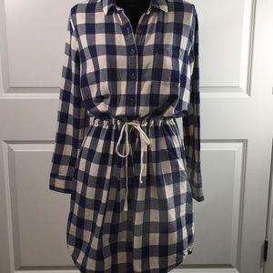 G.H. Bass & CO. Blue Plaid Dress